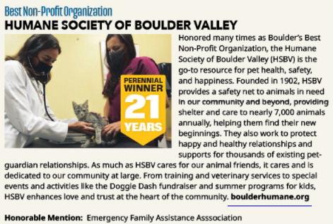 HSBV Boulder County Gold - Best Nonprofit Win picture